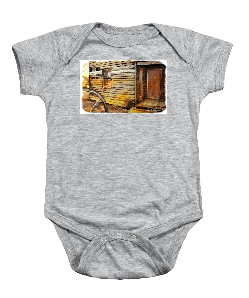 Old House Baby Onesie featuring the photograph Do-00040 Old House Front by Digital Oil