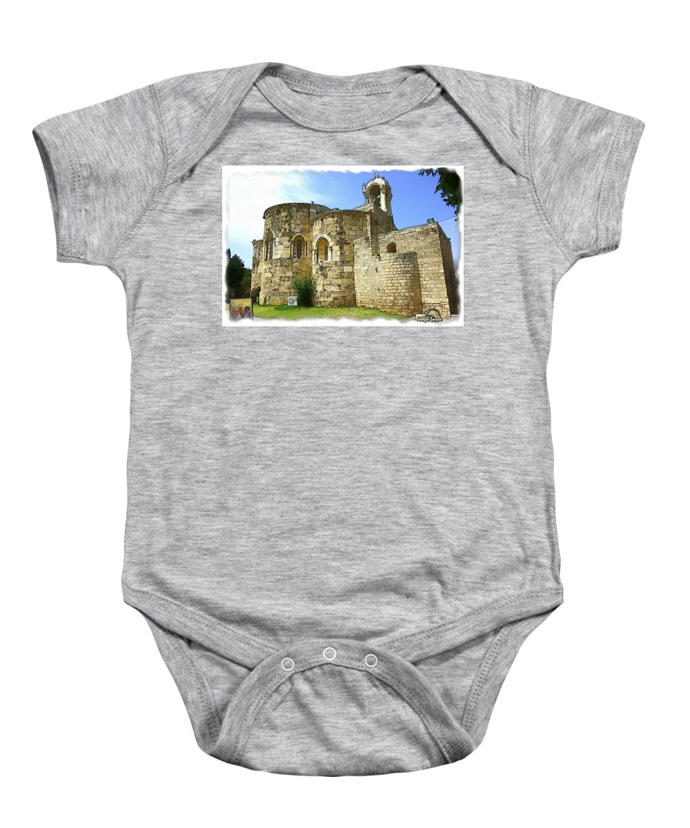 Old Church Baby Onesie featuring the photograph Do-00344 Church Of St John Marcus In Byblos by Digital Oil