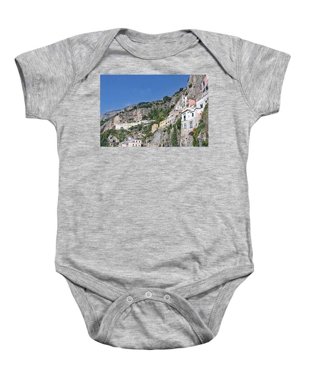 Amalfi Coast Baby Onesie featuring the photograph Do Not Sleepwalk by Allan Levin