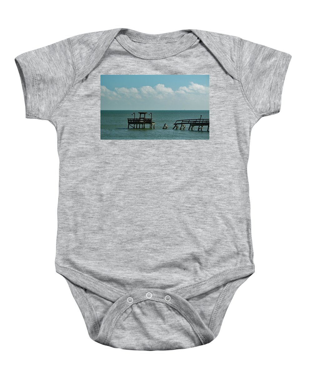 Dock Baby Onesie featuring the photograph Dock By The Sea by Austin Photography