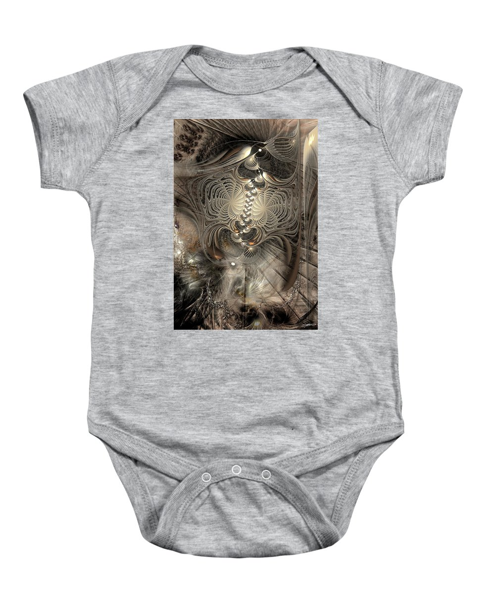 Abstract Baby Onesie featuring the digital art Doctrinal Entrapment by Casey Kotas