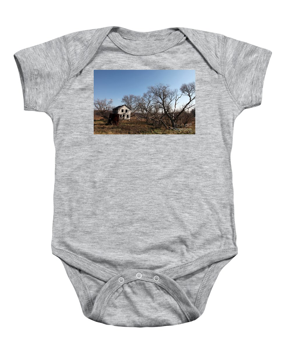Dollhouse Baby Onesie featuring the photograph Dollhouse by Amanda Barcon