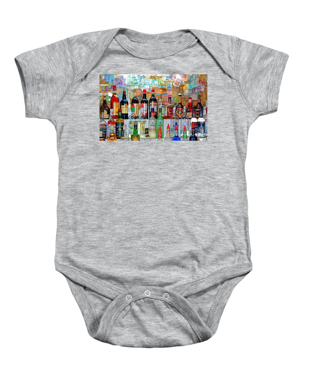 Liquor Baby Onesie featuring the photograph Don Q by Debbi Granruth