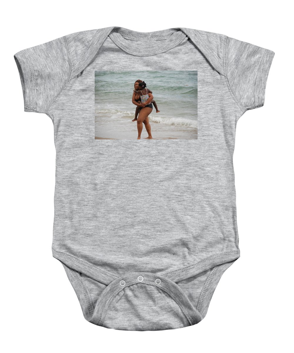 Sea Scape Baby Onesie featuring the photograph Done For The Day by Rob Hans