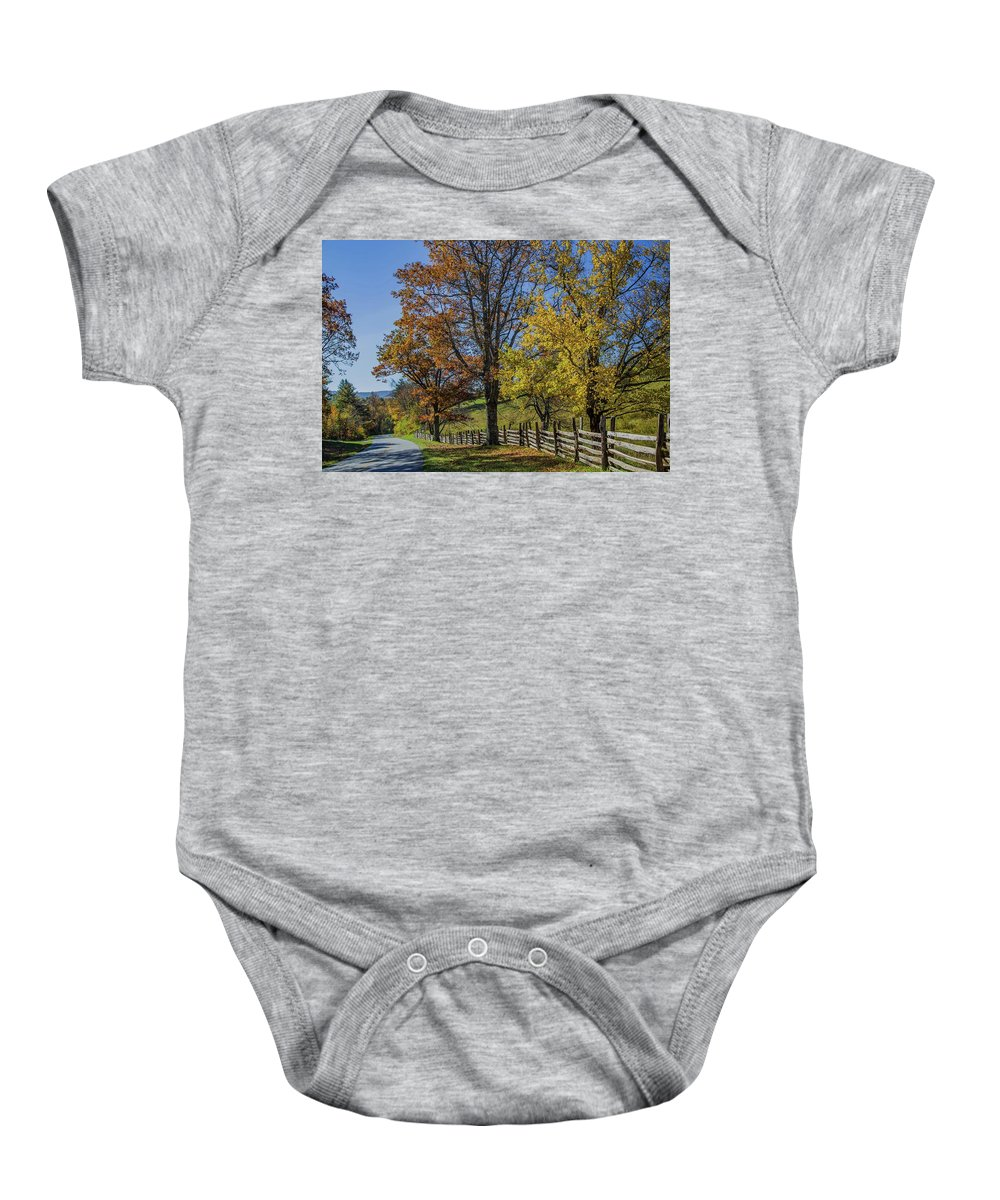 Scenic Baby Onesie featuring the photograph Don't Fence Me In by Kevin Craft