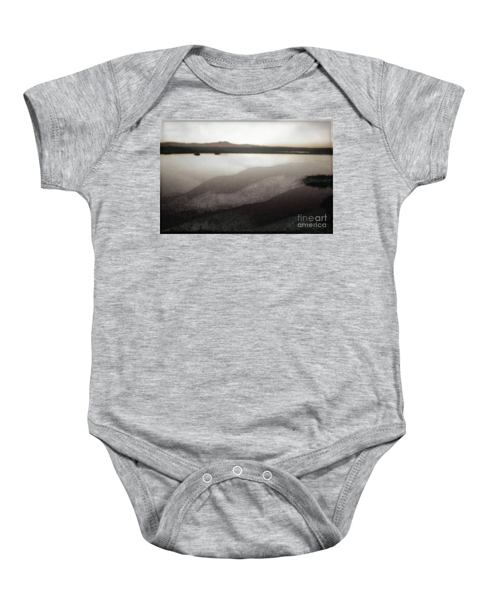 Bolsa Chica Baby Onesie featuring the photograph Doppelgaenger by Michael Ziegler