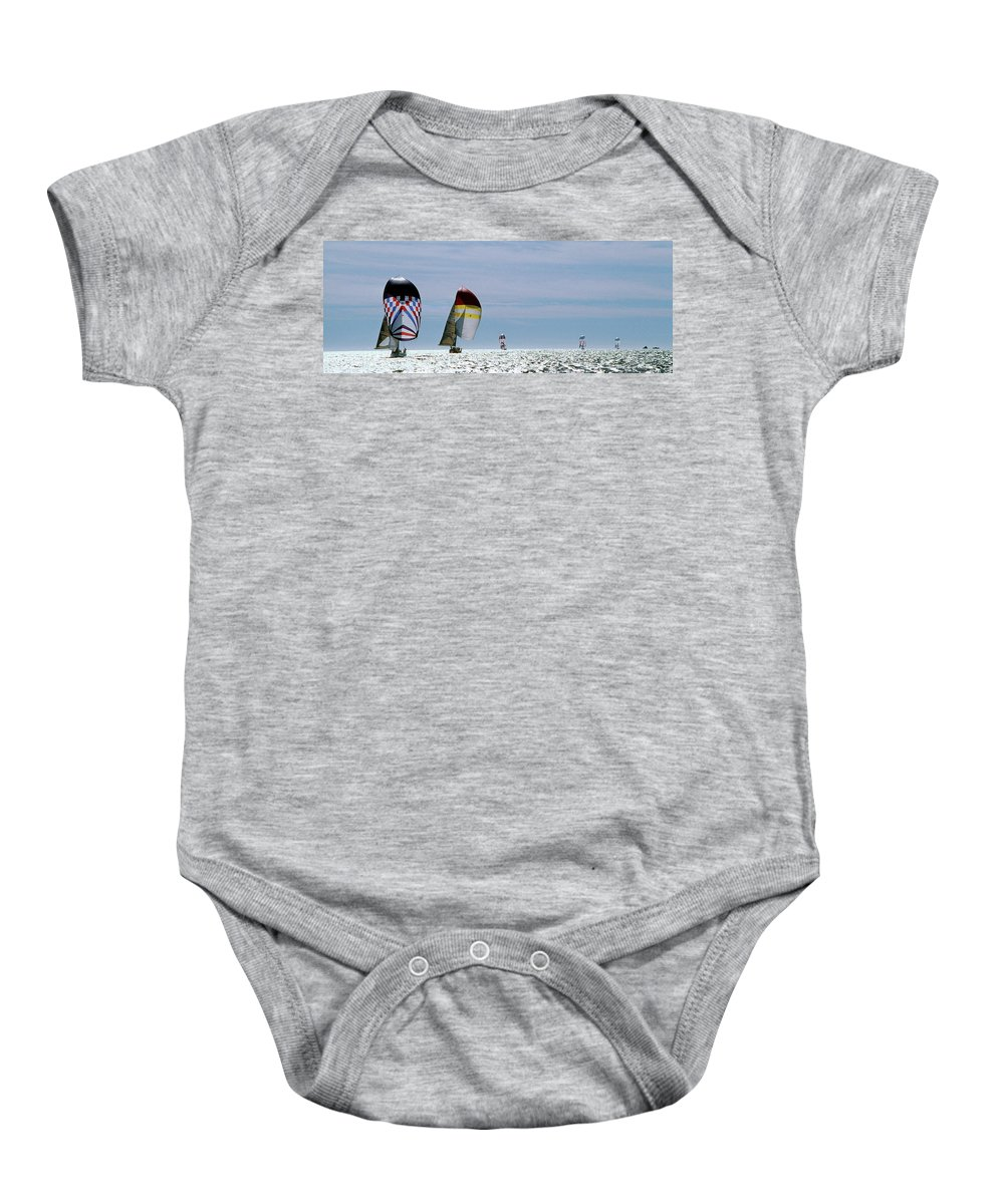 Sailing Baby Onesie featuring the photograph Downwind by Steve Williams