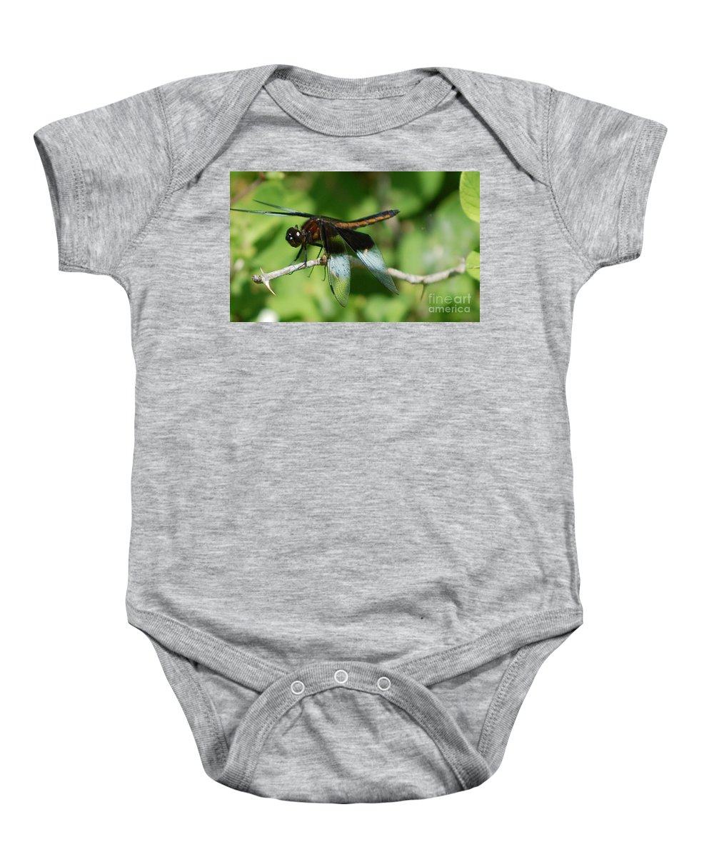 Digitall Photo Baby Onesie featuring the photograph Dragon Fly by David Lane