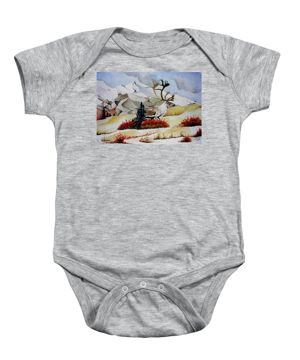 Alaska Baby Onesie featuring the painting Dream Hunt by Jimmy Smith