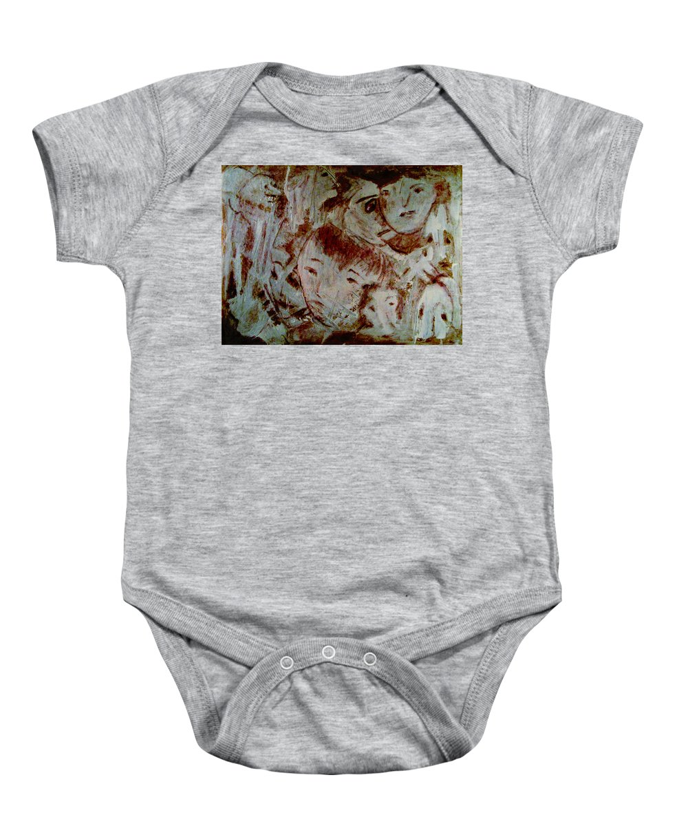 Expressionism Baby Onesie featuring the mixed media Dreams by Natalie Holland