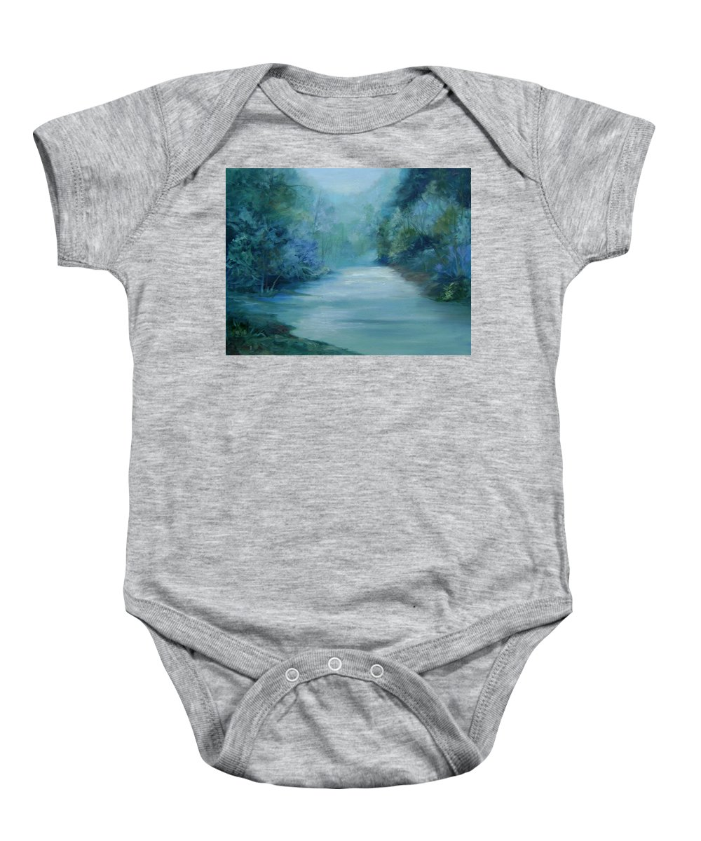 Burton River Georgia Baby Onesie featuring the painting Dreamsome by Ginger Concepcion
