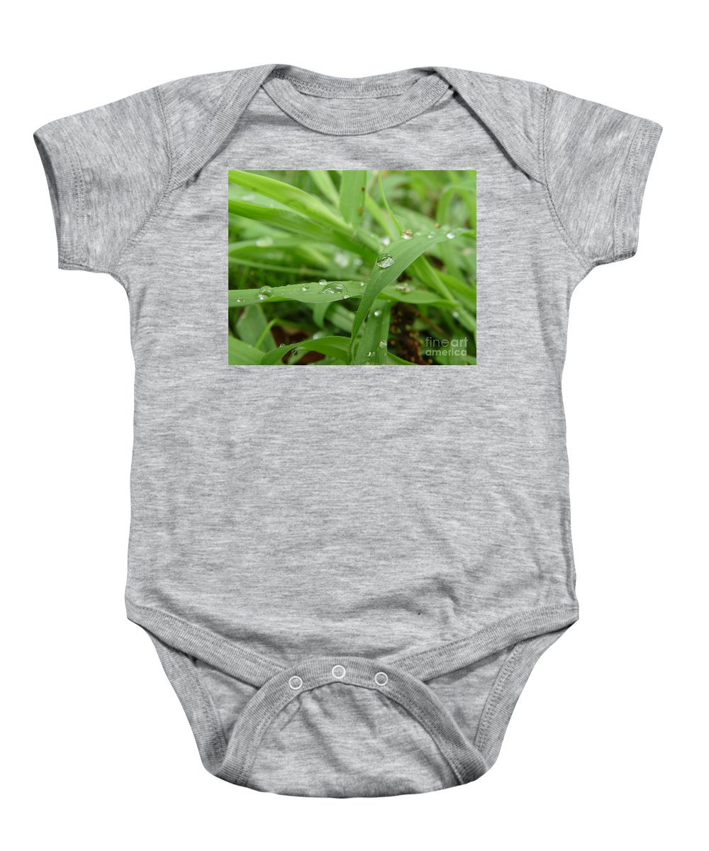 Water Droplet Baby Onesie featuring the photograph Droplets 02 by Peter Piatt