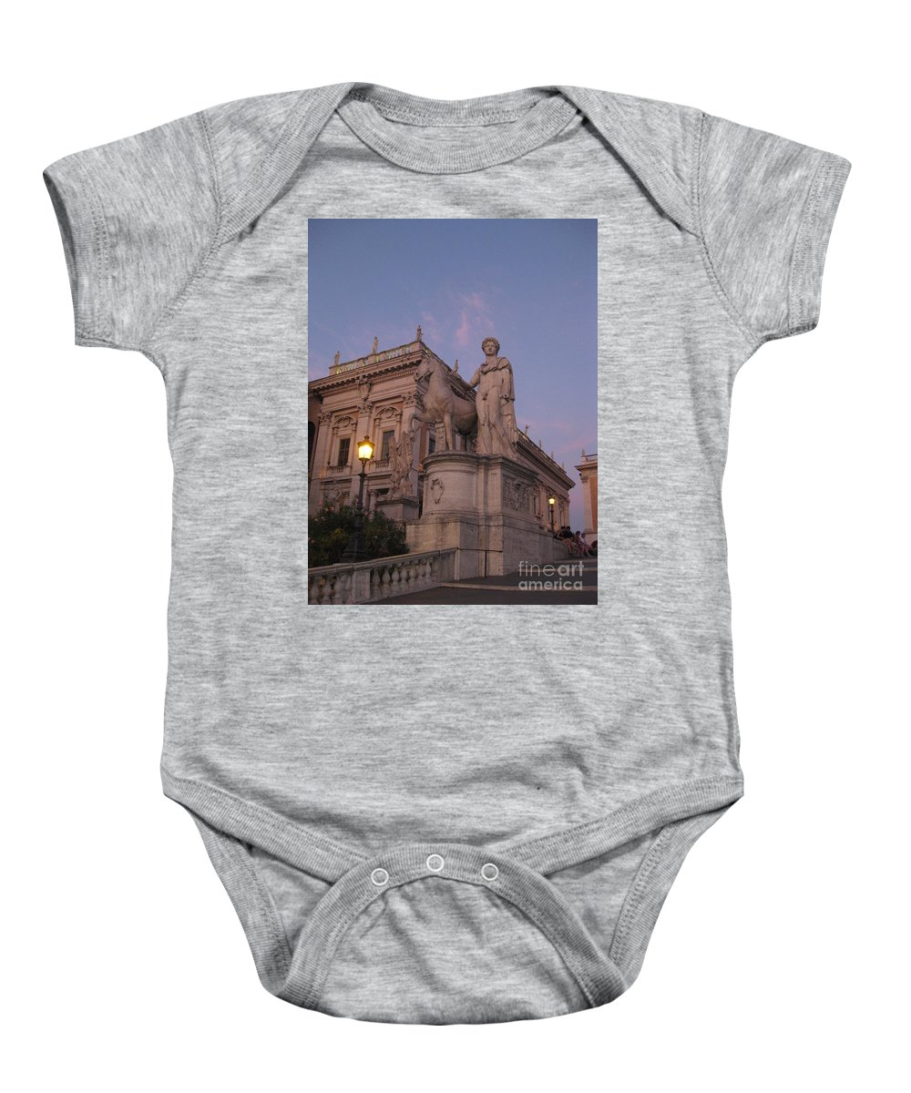 Sunset Baby Onesie featuring the photograph Early Evening Rome Number Two by John Malone