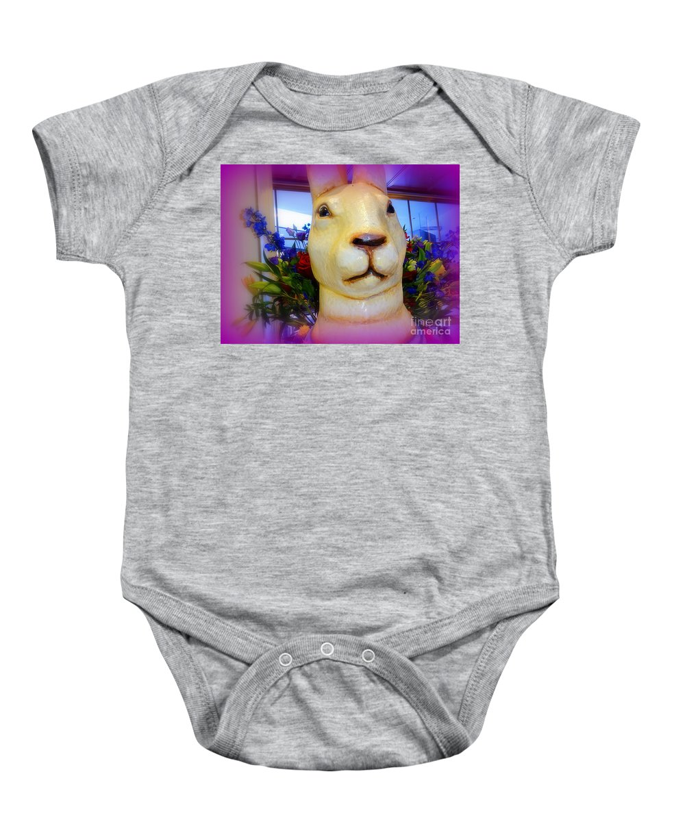 Flowers Baby Onesie featuring the digital art Easter Bunny Bouquet by Ed Weidman