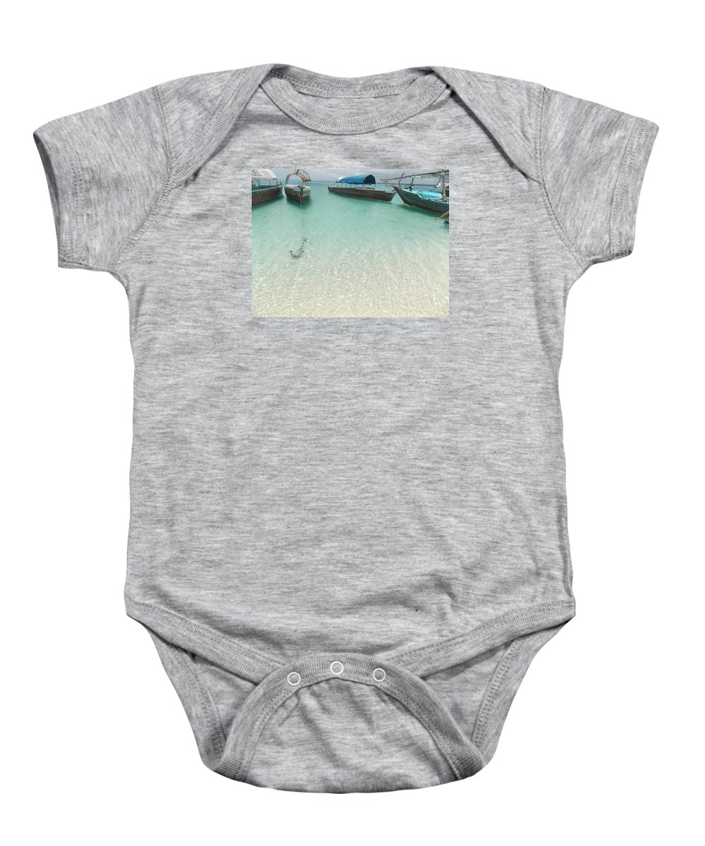 Natural Beauty. Crystal Clear Water. Harmony (sun Baby Onesie featuring the photograph Ebute by Fatoki Taiye