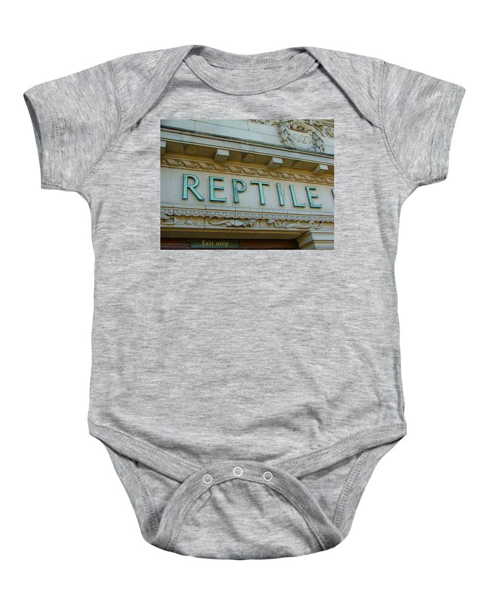 Reptile Baby Onesie featuring the photograph Edwardian Reptile House by Heather Lennox