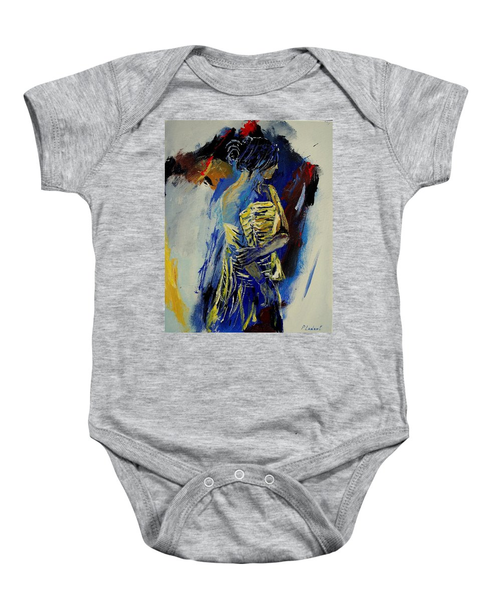 Girl Baby Onesie featuring the painting Eglantine 450110 by Pol Ledent