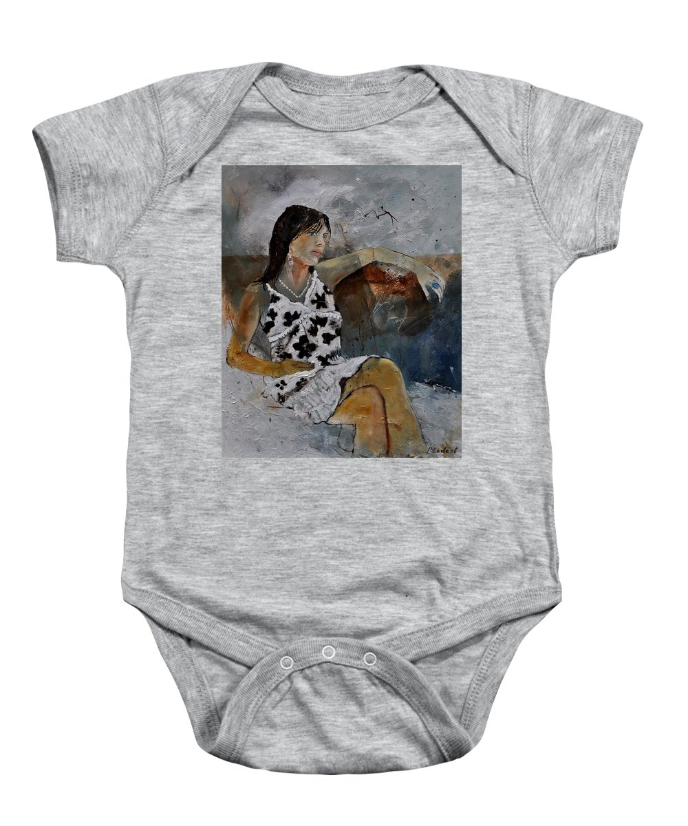 Model Baby Onesie featuring the painting Eglantine 560160 by Pol Ledent