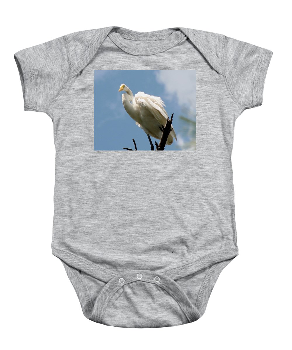 Egret Baby Onesie featuring the photograph Egret 2 by J M Farris Photography