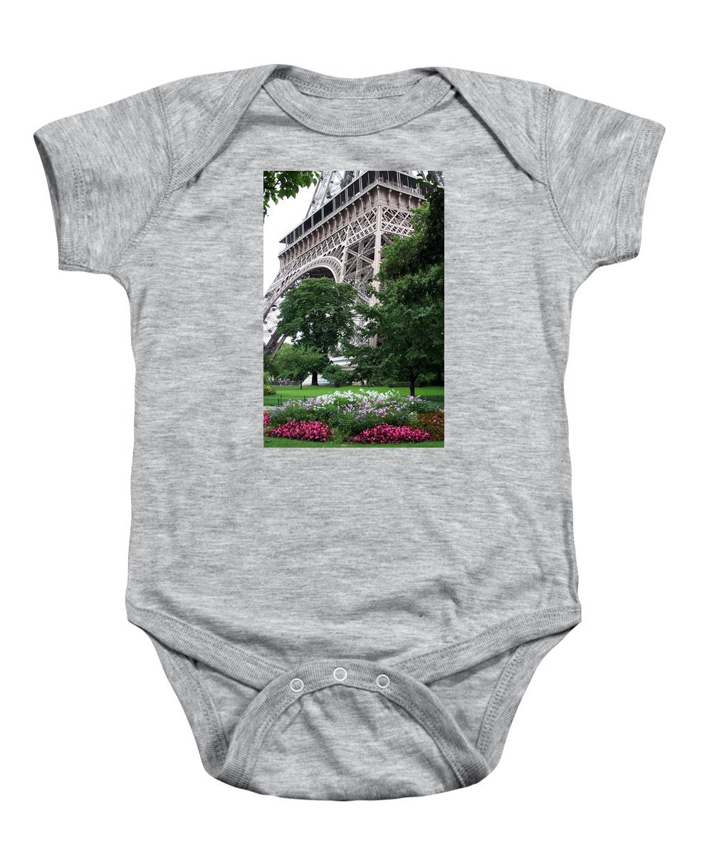 Eiffel Baby Onesie featuring the photograph Eiffel Tower Garden by Margie Wildblood