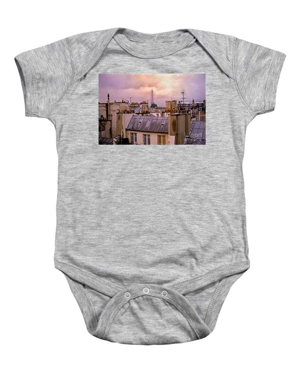 Eiffel Baby Onesie featuring the photograph Eiffel Tower by Madeline Ellis