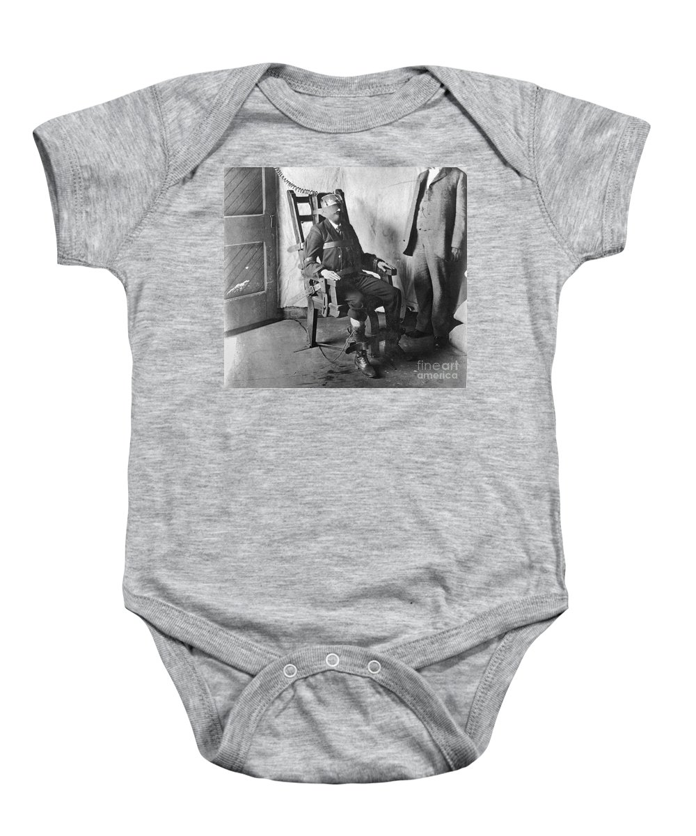 1908 Baby Onesie featuring the photograph Electric Chair, 1908 by Granger