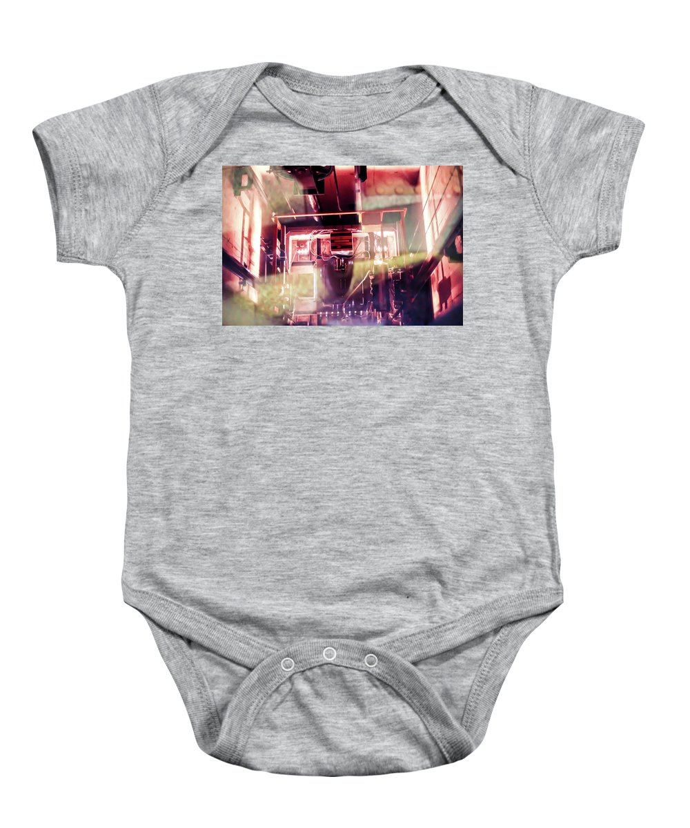 Elevator Baby Onesie featuring the photograph Elevator Ascends by Sam White