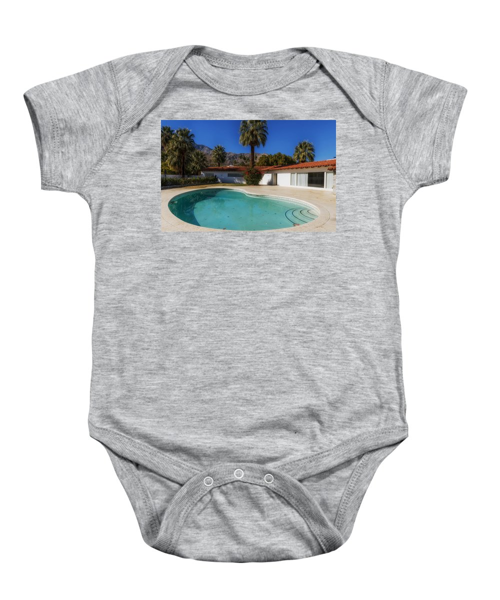 Palm Springs Baby Onesie featuring the photograph Elvis Presley's Palm Springs Home by Mountain Dreams