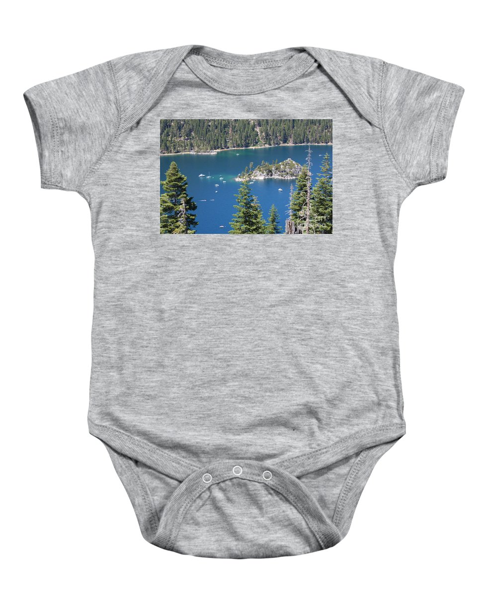 Emerald Bay Baby Onesie featuring the photograph Emerald Bay by Carol Groenen