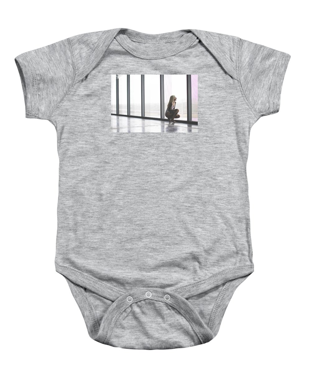 Baby Onesie featuring the photograph Emptiness by Jose Cadenas