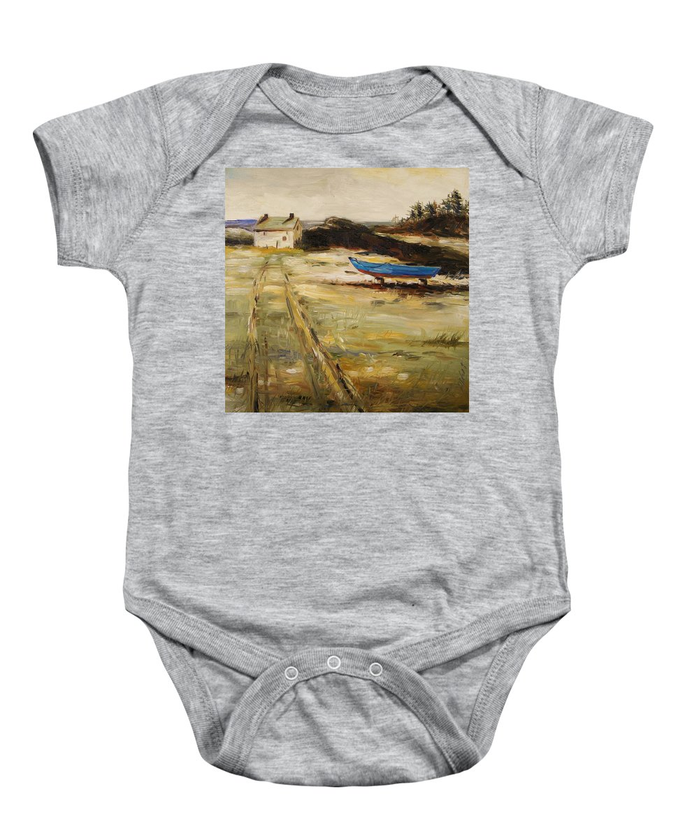 House Baby Onesie featuring the painting End Of Season by John Williams