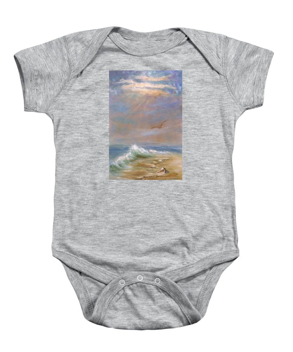 Landscape Baby Onesie featuring the painting Endless Wonder- Sold by Vivan Robinson
