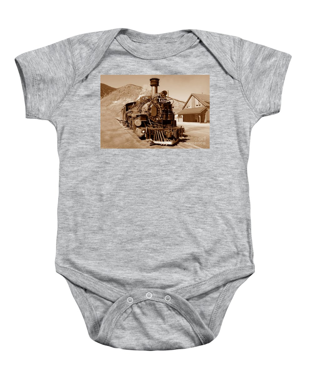 Train Baby Onesie featuring the photograph Engine Number 478 by David Lee Thompson