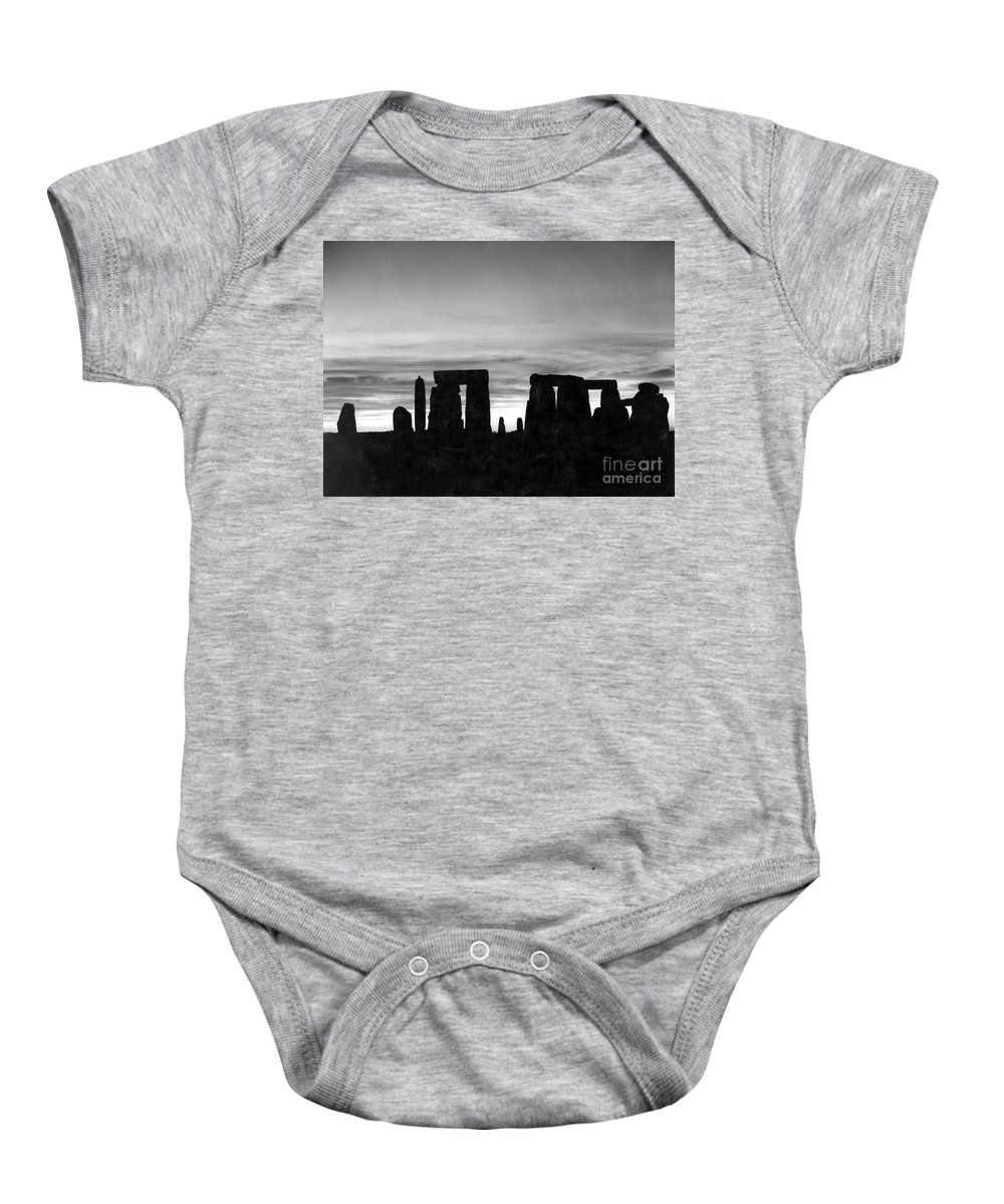 Ancient Baby Onesie featuring the photograph England: Stonehenge by Granger