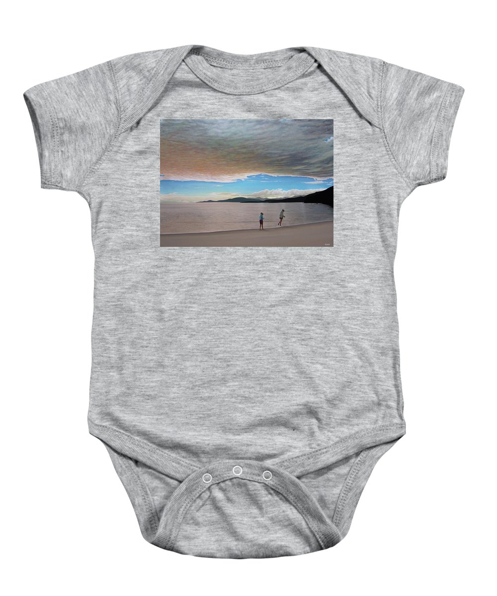 Landscapes Baby Onesie featuring the painting English Bay Vancouver by Kenneth M Kirsch