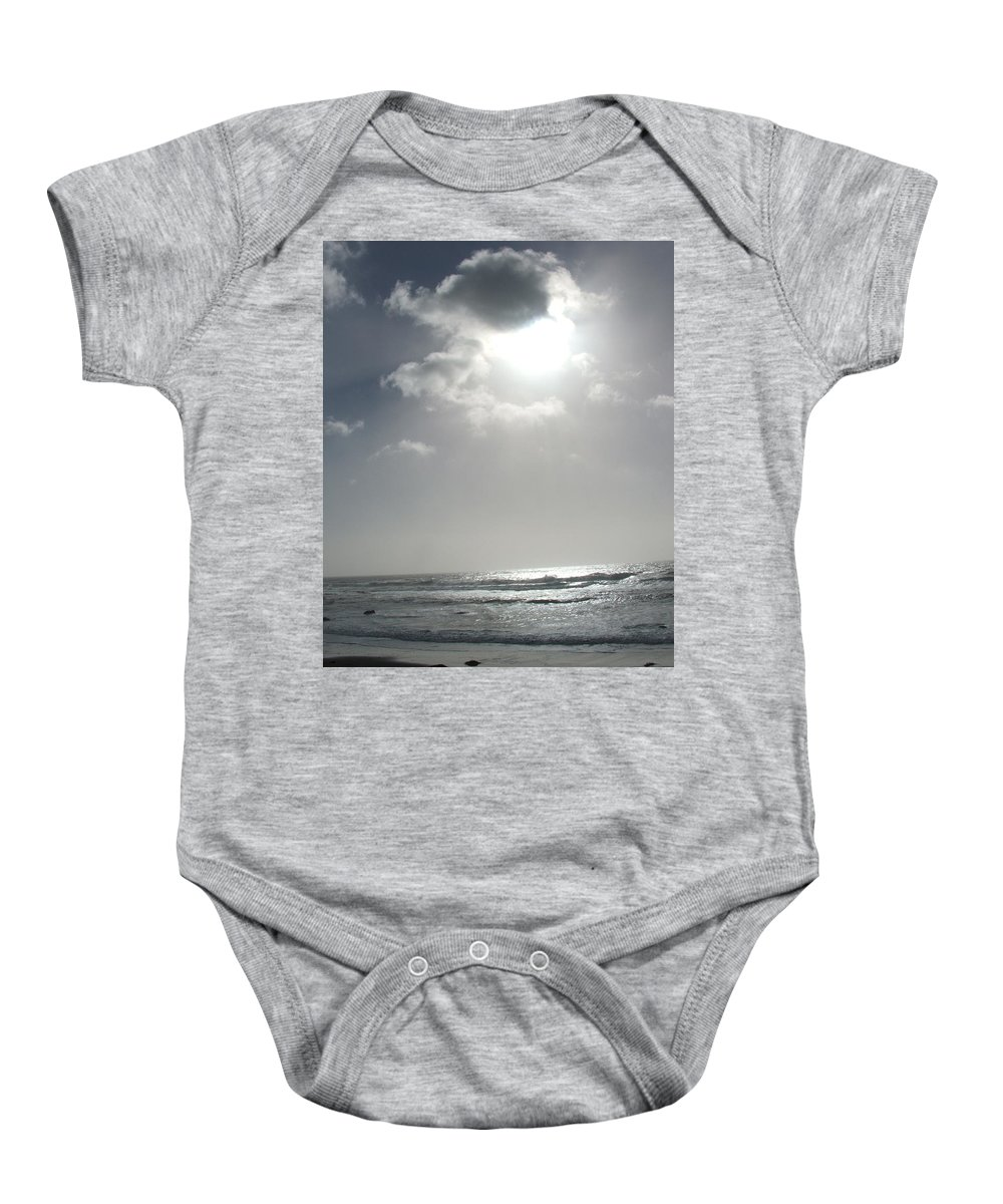 Black And White Baby Onesie featuring the photograph Enlightened by Shari Chavira