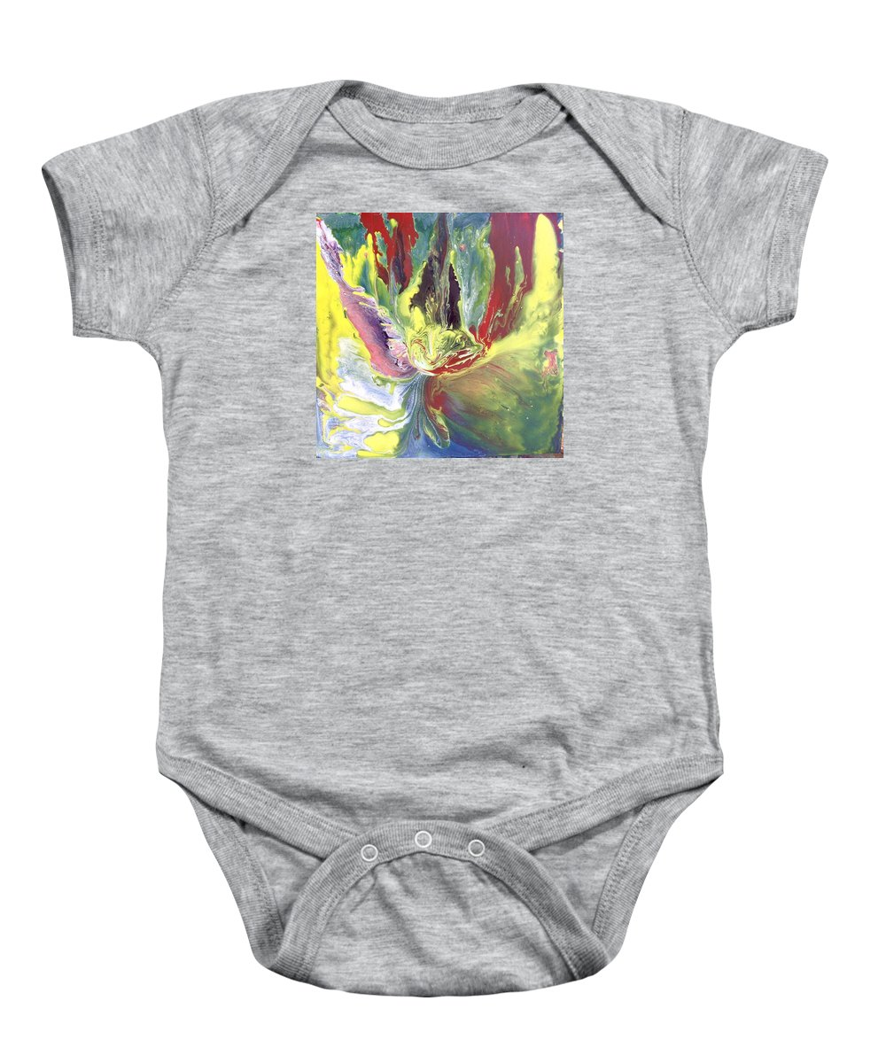 Acrylic Baby Onesie featuring the painting Entity From The Fourth Dimension by Moises Brador