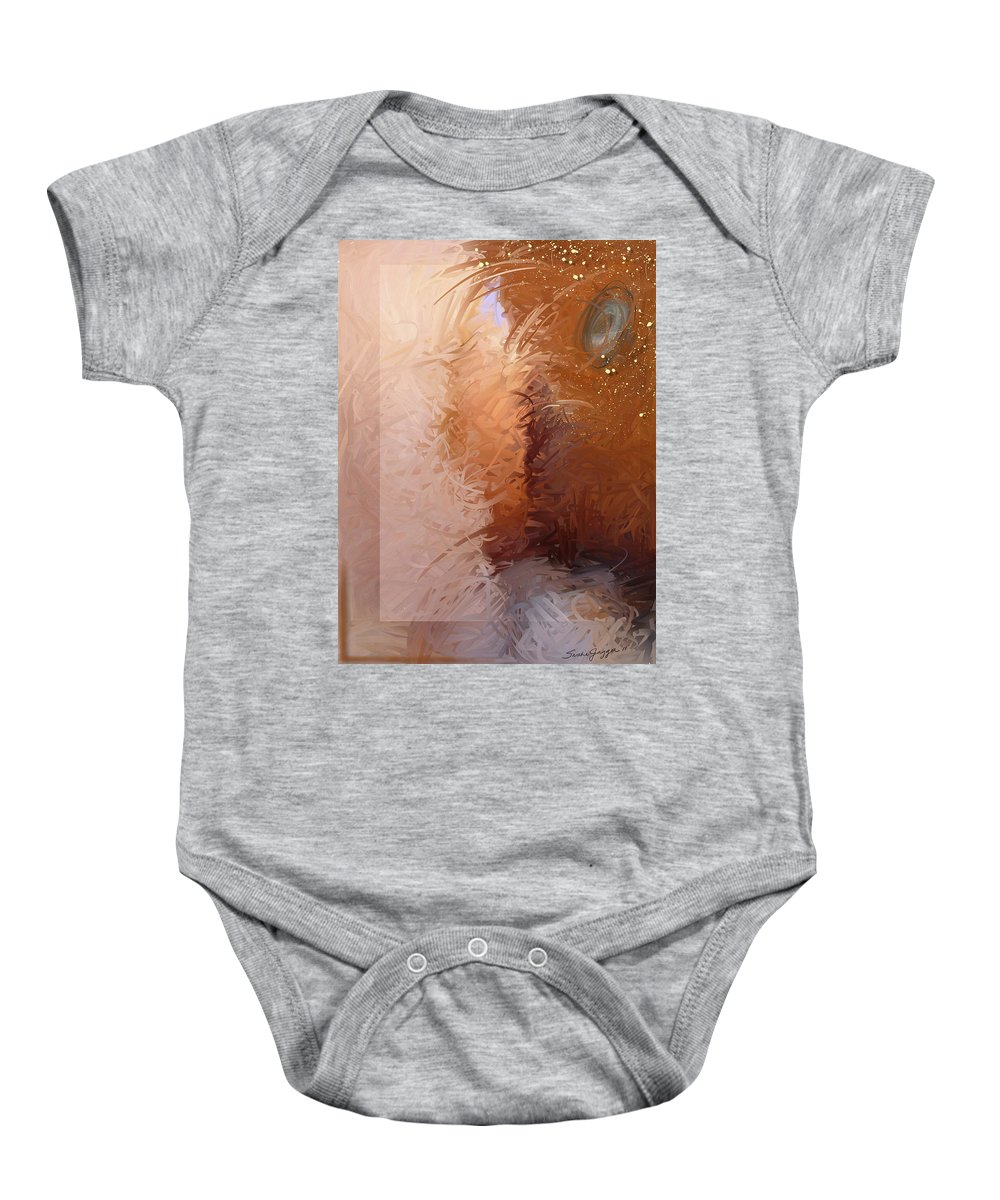 Abstract Baby Onesie featuring the painting Entrance 2 by Snake Jagger