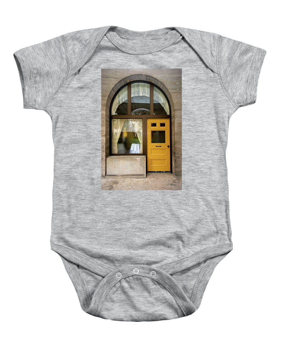 Shapes Baby Onesie featuring the photograph Entry Geometrics by Christopher Holmes