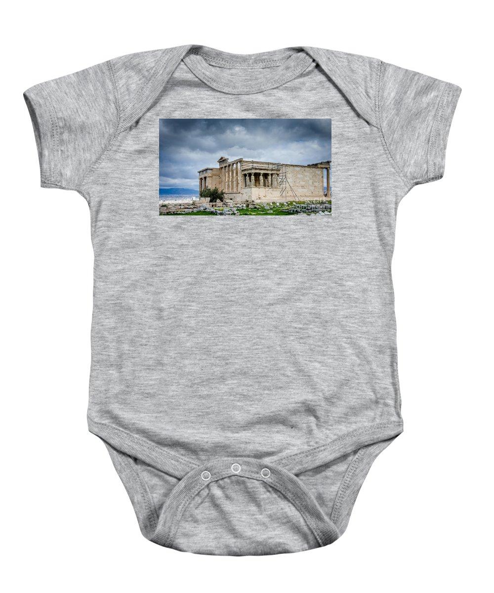 Acropolis Baby Onesie featuring the photograph Erechtheion - Porch Of The Maidens by Debra Martz
