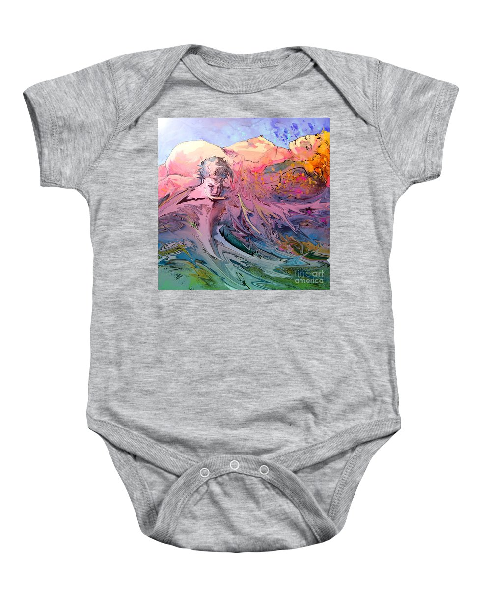 Miki Baby Onesie featuring the painting Eroscape 10 by Miki De Goodaboom
