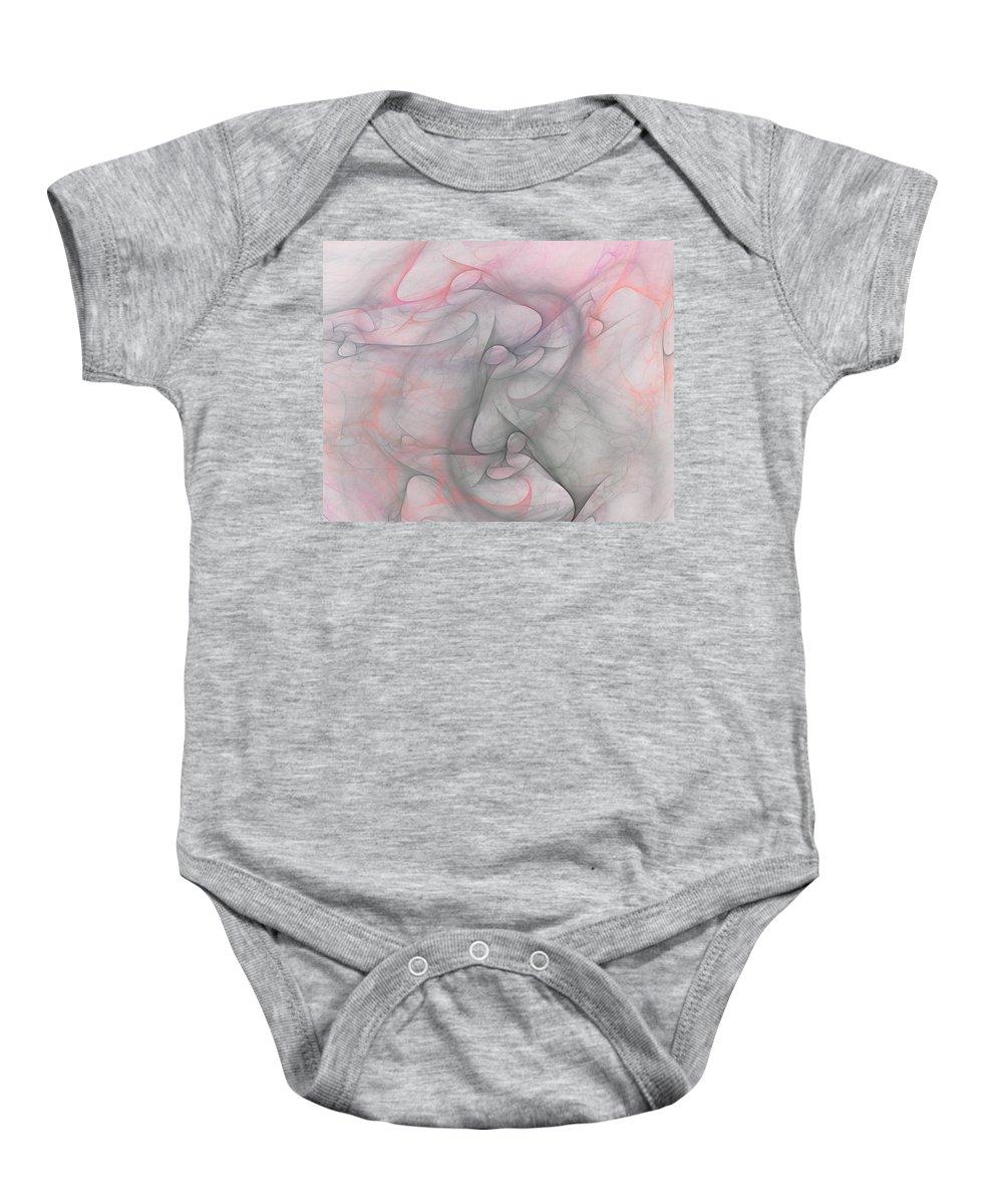 Digital Painting Baby Onesie featuring the digital art Erotica by David Lane