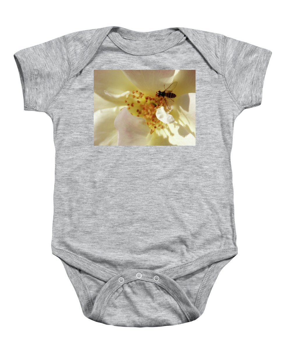 Flower Baby Onesie featuring the photograph Essence by Linda Shafer