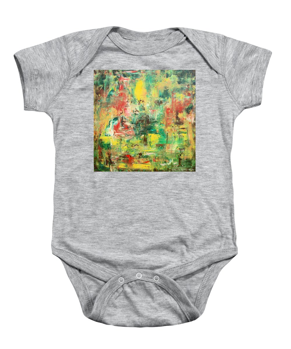Eternity Baby Onesie featuring the painting Eternity by Gina De Gorna