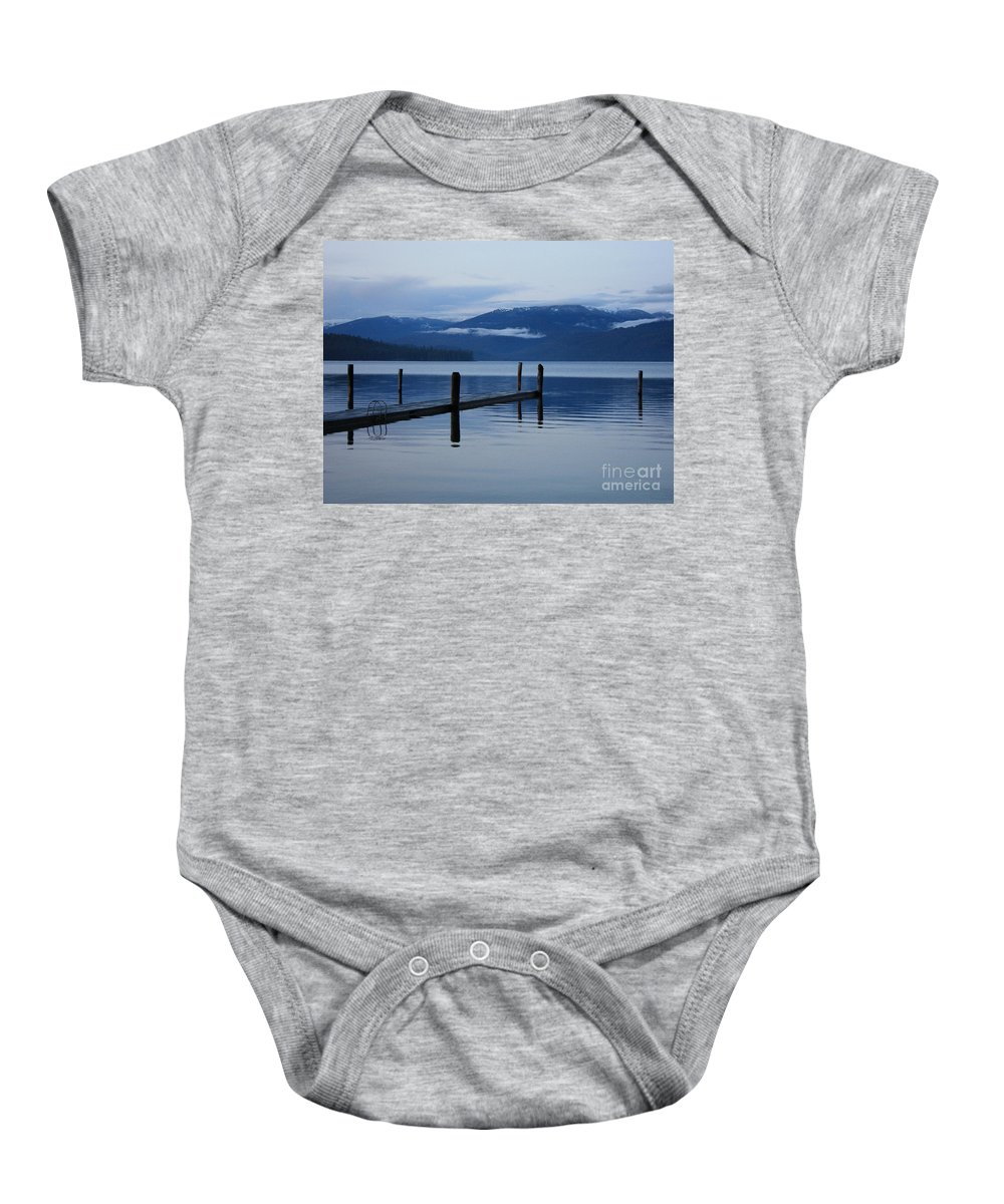 Priest Lake Baby Onesie featuring the photograph Tranquil Blue Priest Lake by Carol Groenen