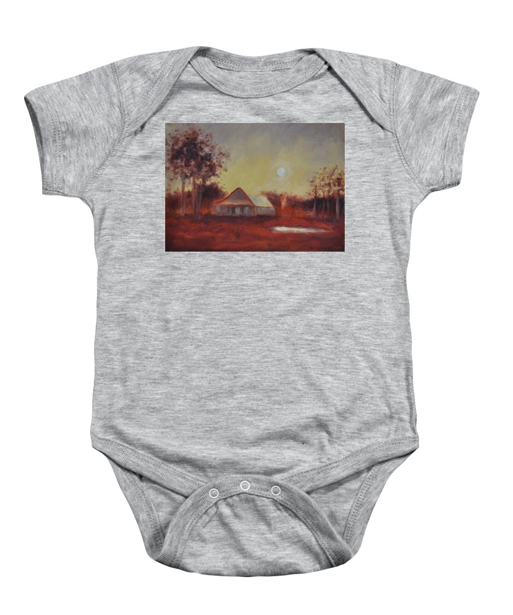 Sunsets Baby Onesie featuring the painting Evening Light by Ginger Concepcion