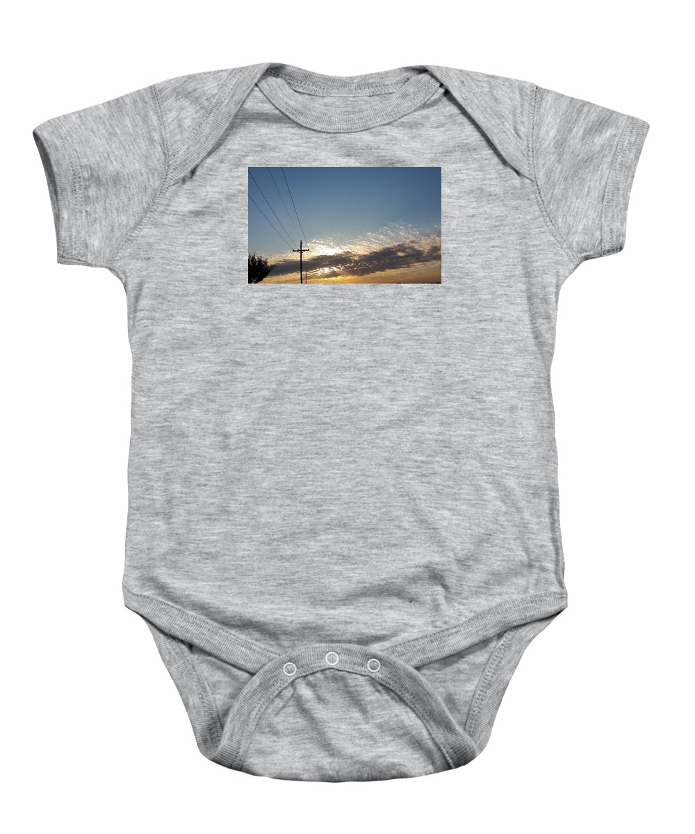 Sunrise Baby Onesie featuring the photograph Every Day Is A Blessing by Stephanie Glasgow