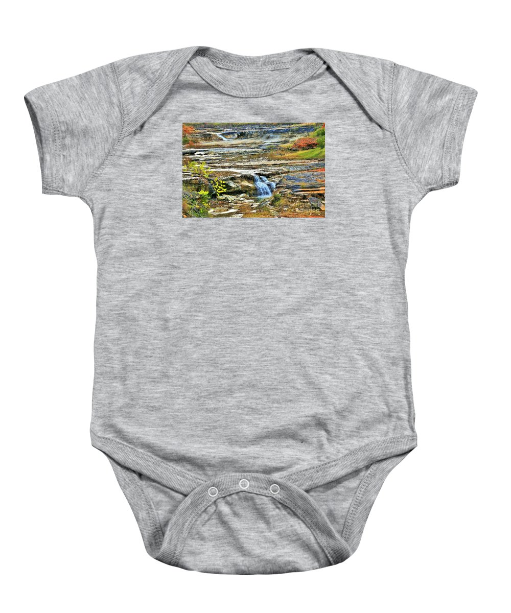 Landscape Baby Onesie featuring the photograph Exhale by Jeff Downs