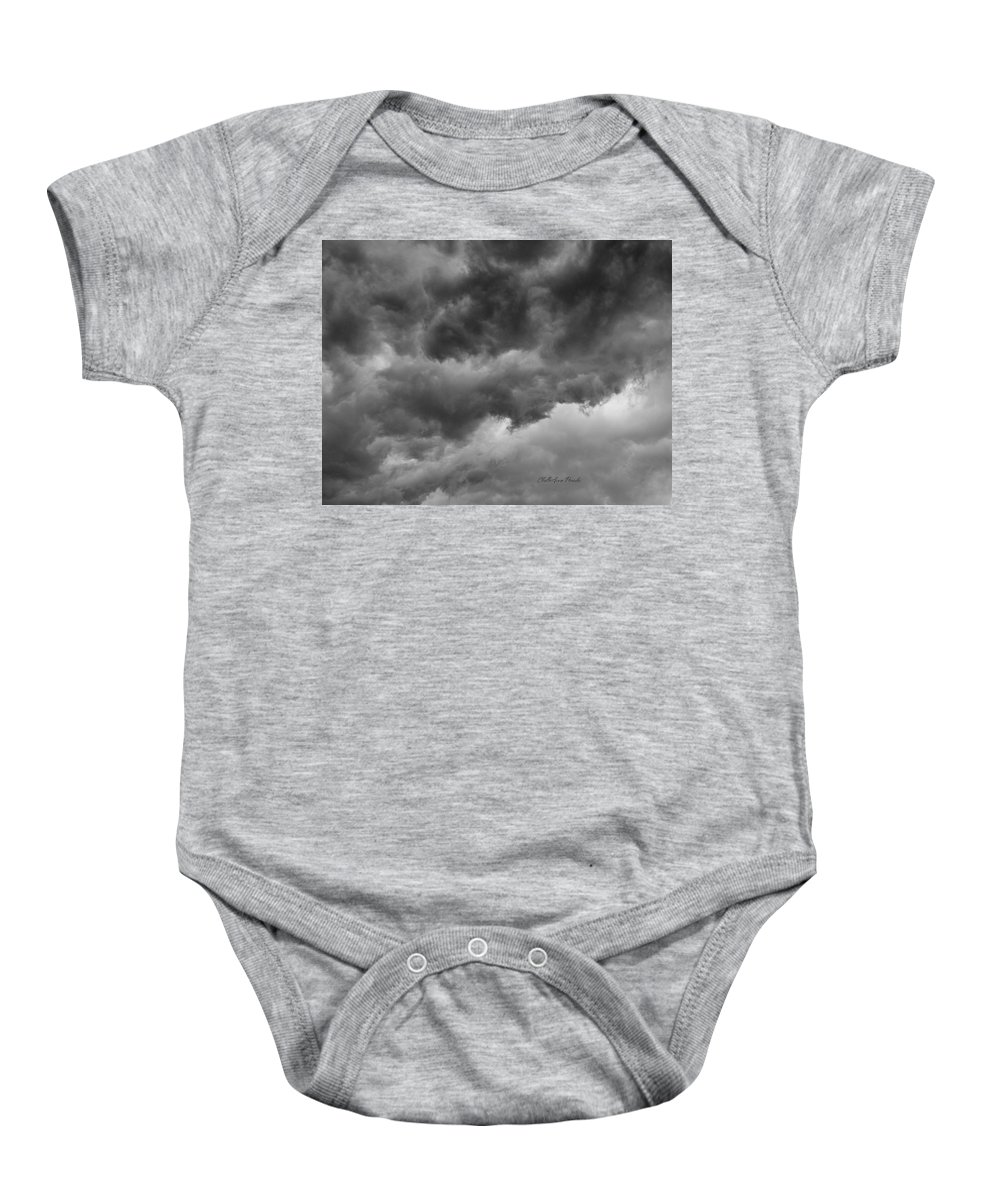 Clouds Baby Onesie featuring the photograph Faces In The Mist Of Chaos by ChelleAnne Paradis