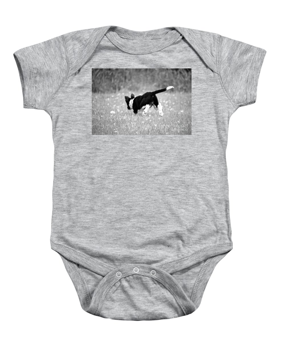 Animal Baby Onesie featuring the photograph Fairy Dust by Susan Herber
